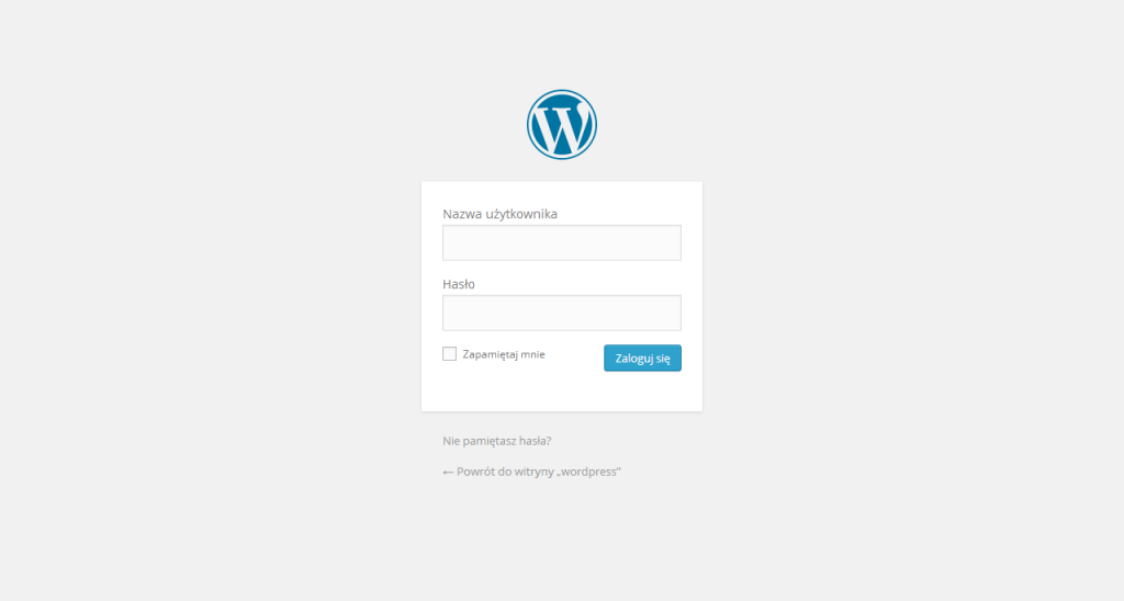 Panel logowania WordPress 3.9