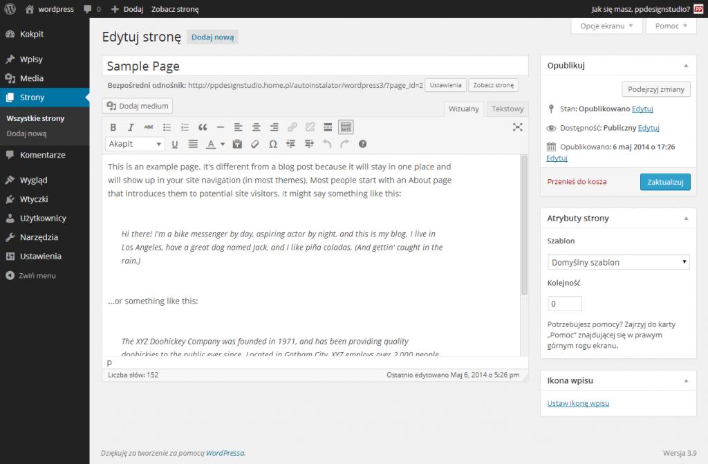 wordpress-wersja3-9-strony